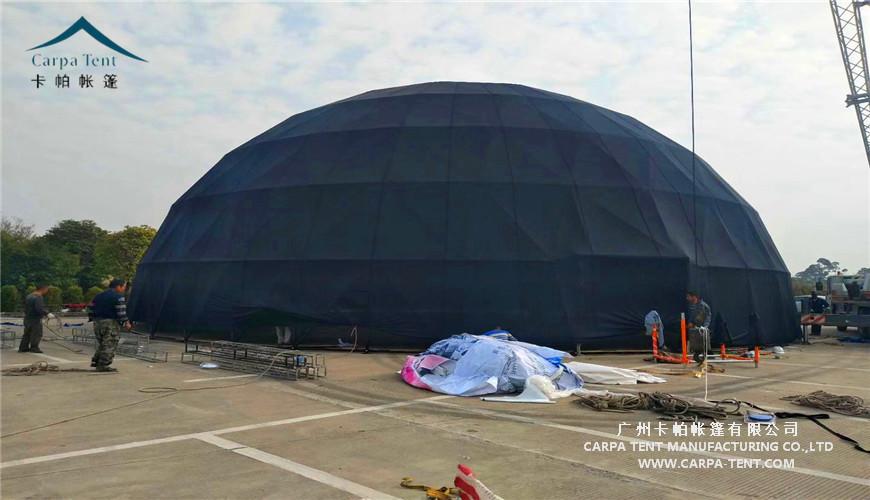 30米直径黑色球形篷房