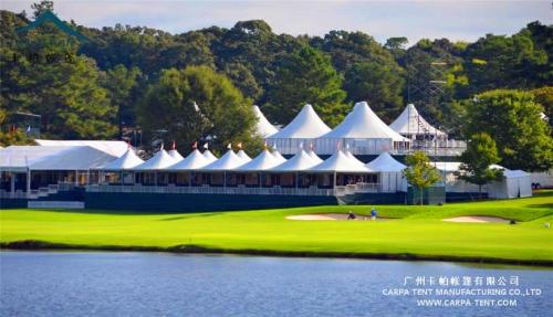 高尔夫体育运动会帐篷搭建