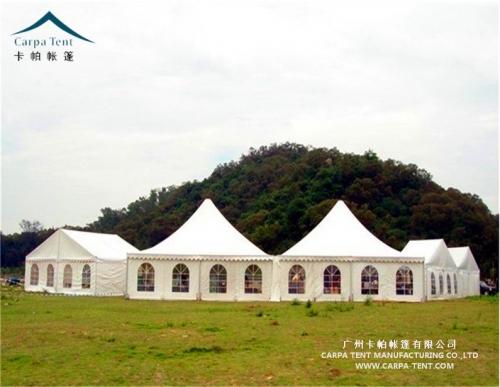 广州番禺农庄10米白色尖顶篷房