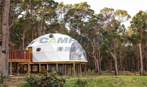 青海原生态风景区星空球形帐篷营地