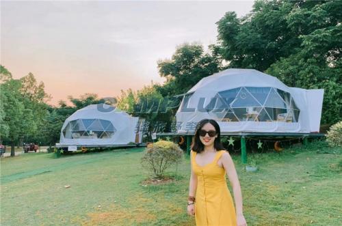 湖北星空球形帐篷酒店定制厂家