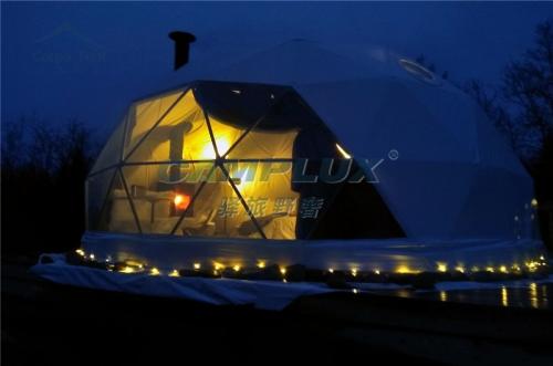 挪威度假景区星空球形帐篷营地