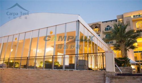 装配式玻璃墙展厅篷房定制