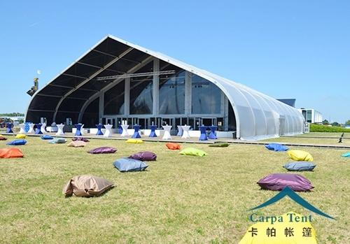 25米大型弯柱篷房
