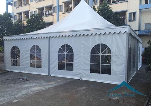 8m×8m欧式白色尖顶篷