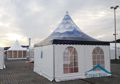3mx3m欧式白色尖顶篷房