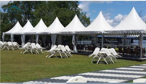 4mx4m欧式白色尖顶篷房