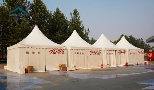 可口可乐活动尖顶篷房