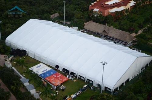 15米跨度弯柱篷房