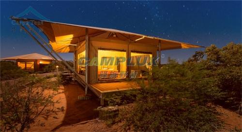 四边形单峰套房野奢帐篷酒店
