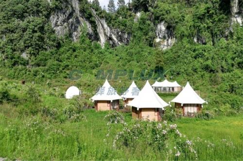 重庆原生态度假区酒店帐篷设计定制