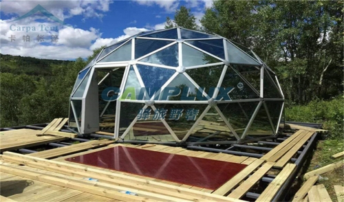 度假露营豪华玻璃屋球形帐篷